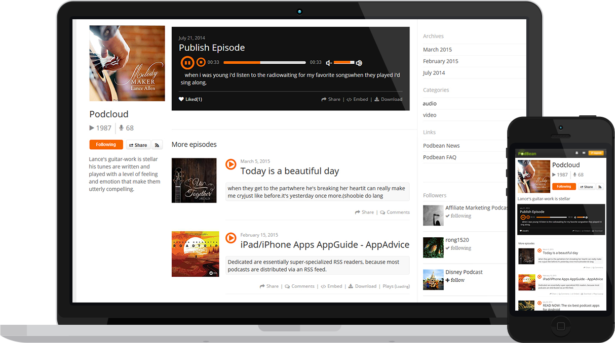 Podcast Site Theme Podcloud